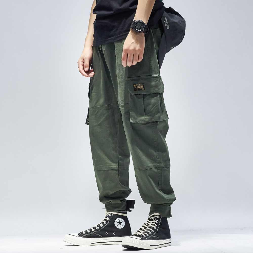 harajuku joggers pants men army green high street loose camouflage hip hop casual Pants male modis cargo fashion japanese homme
