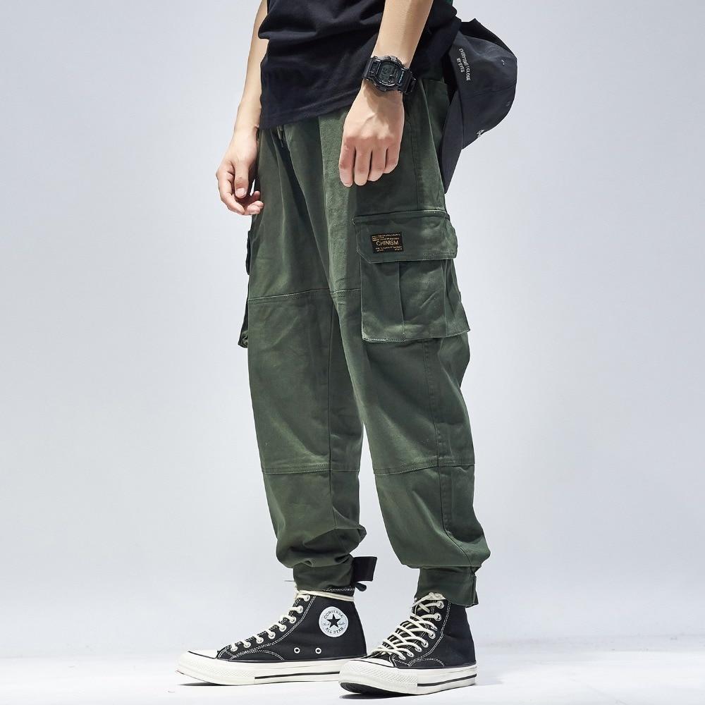 Salopette hommes jogger pantalon armée vert high street casual pantalon lâche camouflage hip hop Pantalon cargo rue pantalon de danse mode
