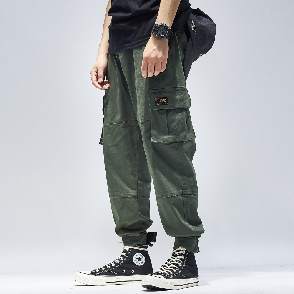 bib overall men jogger pants army green high street casual pants loose camouflage hip hop Pants cargo street dance pants fashion