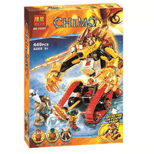 Bela 10295 Chimo Series The Flames Of Golden Chariot Minifigure Building Blocks Compatible with Legoe Bricks Toy Christmas Gifts