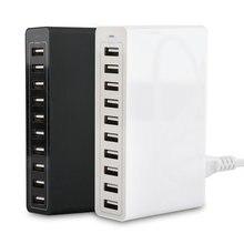 10 port akıllı AC USB şarj aleti 50W 10A duvar cep telefonu şarj aleti Tablet seyahat çok portlu ev USB şarj aleti ücretsiz kargo