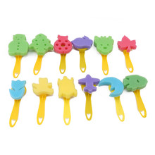 12PCs Sponge Brush Set Kindergarten Children Graffiti Art Sponge Seal Children Painting Process(China)