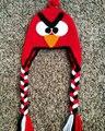 Crochê Chapéu de Porco, Angry birds Chapéu vermelho, Acessórios de Angry birds, crochê Animais Chapéu Chapéu Morno algodão 100% Perfeito Presente de Natal