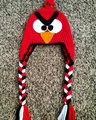 Crochet Pig Hat,  red Angry birds Hat, Angry birds Accessories, Crochet Animal Hat Warm Hat 100% cotton Perfect Christmas Gift