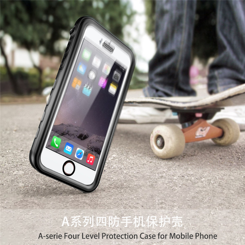 Full Sealed Waterproof Shockproof Dirtproof Touch ID Diving Underwater Matte Case For iphone X 8 7 6 6s Plus Cover Shell