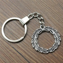 Peace Olive Keyring Keychain 34mm Antique Silver Key Chain Souvenir Gifts For Men