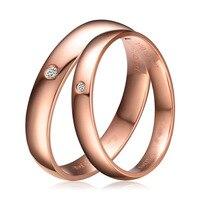 Natural Diamond Rings Set Pareja Genuino $ number ct H/SI Diamond 18 K Sólido Oro Rosa Anillo de Boda de Compromiso Conjunto anillo de Tamaño Personalizado