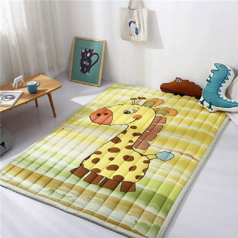 Mats Folding Baby Play Mats 140X195CM Cotton Carpet Children Game Blanket Non-slip Machine Washable Rugs For Kids Gifts woven vinyl non slip insulation placemat washable table mats