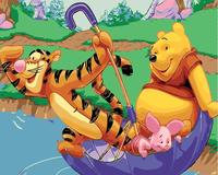 Bear and Tiger Oil Painting picture By hand module Picture Coloring by Numbers Unique Gift Home Decoration for children room