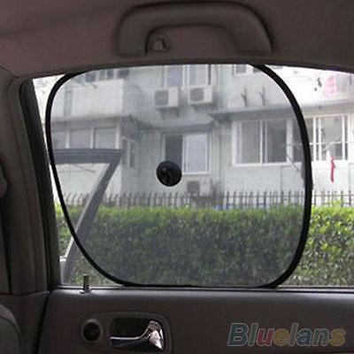 2Pcs Car Rear Window Side Sun Shade Cover Block Static Cling Visor Shield Screen Window Shade Block Car Window Screen