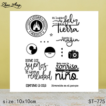 ZhuoAng  New ST-775 design transparent seal / sealed DIY scrapbook album decoration card seamless