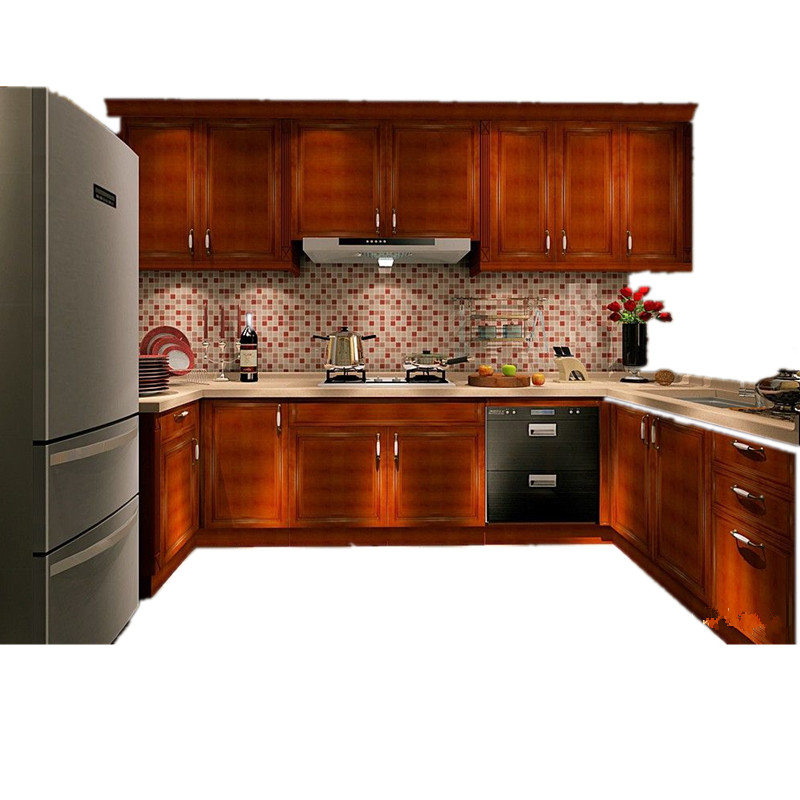 China Factory Free 3D Design South Africa Hot Sell Woood Veneer Kitchen Cabinet