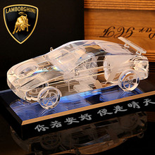 Best Christmas Gifts Handmade Clear Customized Logo Crystal Car Model 3D Models