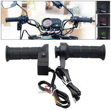12V 26W Multifunction Motorcycle Adjustable Temperature Electric Heated Handle with Accelerator Cards Pieces and Voltmeter