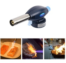 Genuine Gas Burner Torch Auto Ligniting Flame Gun thrower For Camping Welding Cooking  Caramelizing Tools