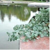 Sztuczne zielony kwiat liść rattans netto diy ma1759 garland akcesoria do dekoracji wnętrz