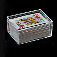 Business card plastic box promotion shop for promotional business 100pcs ps transparent box sealed package display plastic rectangular poker business card clear storage box za6221 colourmoves