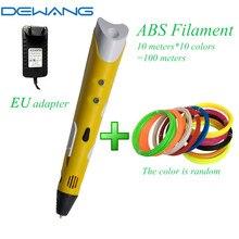 DEWANG 3d Smart Pen Birthday Gift for Kids Children DIY Toys W/1.75mm ABS PLA Plastic Filament Canetas Criativa Best Magic