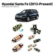 цены Led interior lights For Hyundai santa fe 2013+  10pc Led Lights For Cars lighting kit automotive bulbs Canbus
