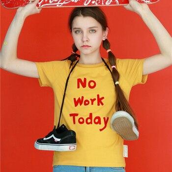 High quality women s font b t shirts b font cotton letter prints yellow tops o.jpg 350x350