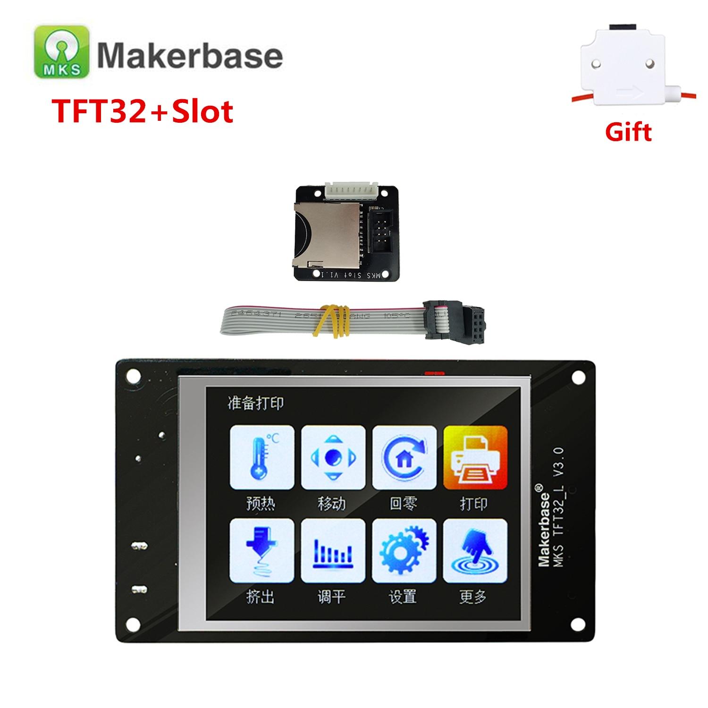 MKS TFT 32 V4.0 Touch Screen + MKS Slot SD Card Expansion Module Splash Lcds TFT 32 Touching TFT3.2 Display RepRap TFT Monitor