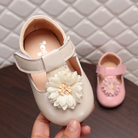First Walkers Baby Girl 1 3 years old 2019 Summer PU Leather Baby Girl Flower Casual Shoes Flat Soft Leather first walker Shoes