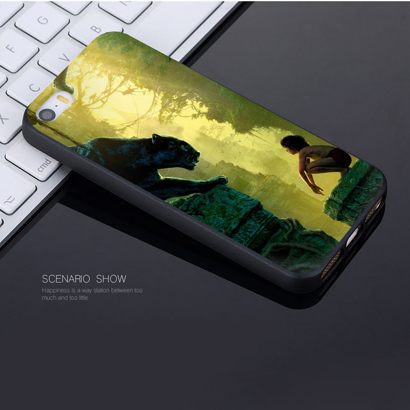 MaiYaCa Cartoon The Jungle Book Coque Shell Phone Case for Apple iPhone 8 7 6 6S Plus X 5 5S SE 5C Cover