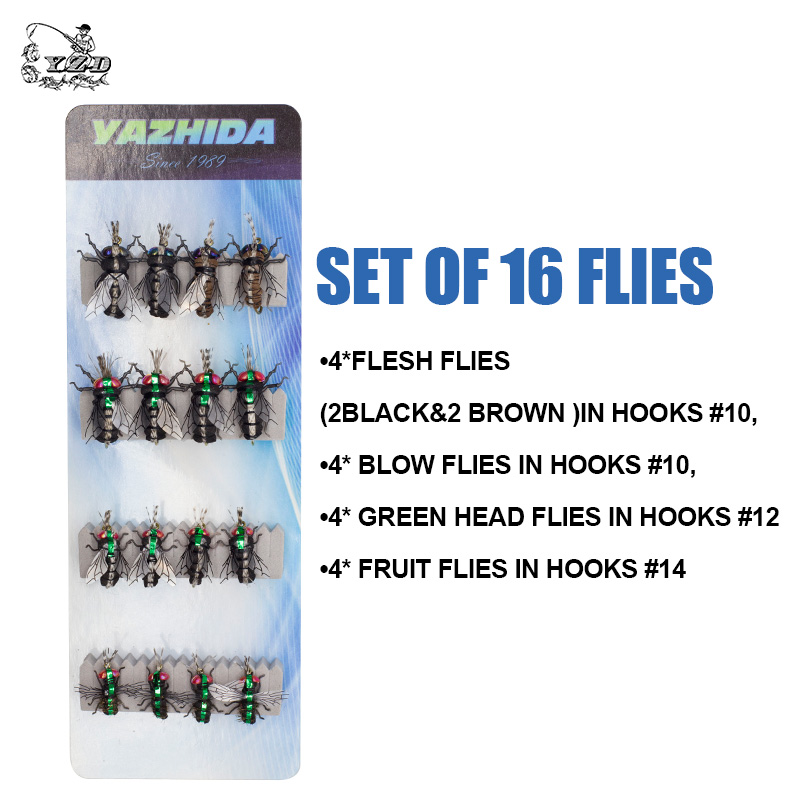 Image 3 - Fly Fishing Flies set 12pcs Mosquito Housefly Realistic Insect Lure for Trout Lure kit flyfishing-in Fishing Lures from Sports & Entertainment