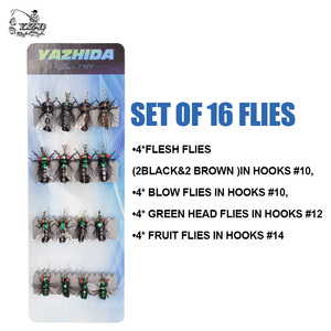 Image 3 - Fly Fishing Flies set 12pcs Mosquito Housefly Realistic Insect Lure for Trout Lure kit flyfishing