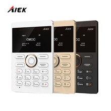 2016 новые оригинальные AIEK E1 ультра тонкий Русский Английский Арабский Клавиатура Mini Card low radiation один открыл мобильный телефон