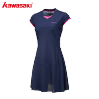 Kawasaki Brand Ladies Sport Tennis Dress For Women Girls Quick Dry Breathable Solid Teniss Dresses Sportswear