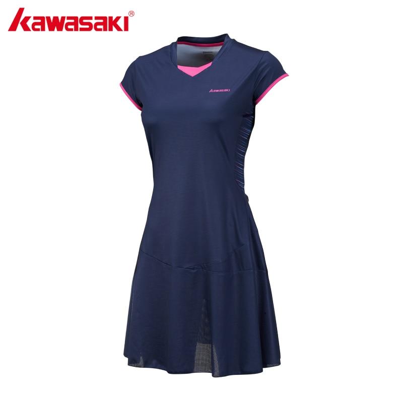 2204 38 De Descuentokawasaki Marca Señoras Deporte Tenis Vestido Para Mujeres Niñas Secado Rápido Transpirable Sólido Teniss Vestidos Ropa
