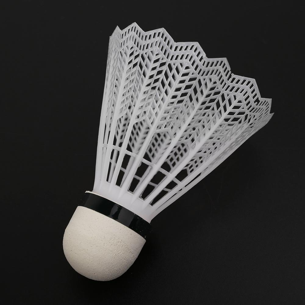Museourstyty Badminton Plastic for Women Men Shuttlecocks for Indoor Outdoor Gym Sports Accessories White 12Pcs