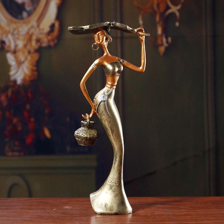 Traditional Chinese Resin Craft Home Furnishings Desktop Decoration Figuriens Minorities Beautiful Woman Figurines Wedding Gift