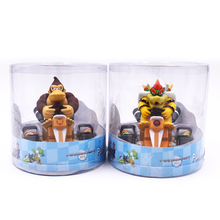 Super Mario Bros Figures 13Cm Japan Anime Luigi Dinosaurs Donkey Kong Bowser Kart Pull Back Car Pvc Figma Kids Hot Toys for Boys