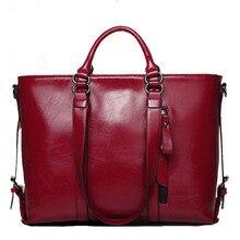 Women Bags Handbag 2016 Top Oil Wax Leather Women Shoulder Messenger Bag Fashion Spring Brand Lady Leather Handbag Bolsas Bags