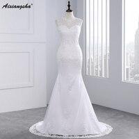Cheap Lace Wedding Dress 2017 Mermaid Wedding Dresses Romantic Bride Dress Custom Made Fashionable Vestidos De Noiva Em Renda