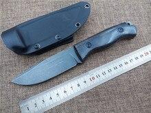 Lo nuevo Zorro ADG Al Aire Libre caza cuchillo fijo cuchillo táctico D2 hoja utilidad supervivencia que acampa cuchillo de la herramienta de mano del jardín