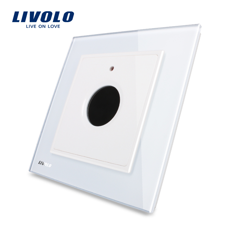 Livolo UK standard New Wall Light Timer Switch, AC 110~250V Home Wall Light Switch,White Crystal Glass Panel,  VL-W291Y-12. manufacturer white crystal glass panel livolo new wall light sound control switch ac 110 250v 40s vl w291sg 12