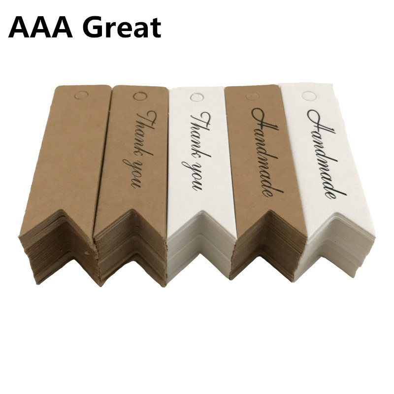 AAA Great 100Pcs/Lot Kraft Paper Postcards Cards Small Gifts Stationery Handmade Blank Bookmark Wedding Lable Party Christmas
