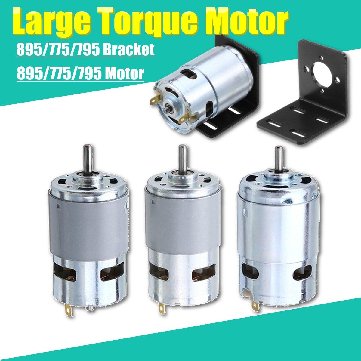 775 795 895 Suporte Do Motor/Motor Da Engrenagem DC 12 V-24 V 3000-12000 RPM Do Motor Grande motor Da Engrenagem de Torque
