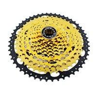 10 speed 50T mountain bike cassette flywheel 11 50T climbing bike speed change flywheel Gold hollow Chainwheel