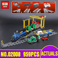 Lepin 02008 Genuine City Series The Cargo Train Set Legoing 60052 Building Blocks Bricks Toys As