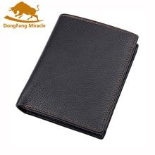 Классический мужской бумажник из натуральной кожи, брендовый дизайнерский мужской клатч с карманом для денег, вместительные Кошельки для монет