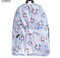 50pcs fedex /dhl fast Fantastic Animal Prints Horse Unicorn Backpacks for Teenagers Boys Girls Kids Backpack School Bags