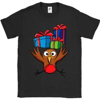 Robin Carrying Lots Of Christmas Presents Mens T Shirt Harajuku Pokemon Shirt Top Tee O Neck
