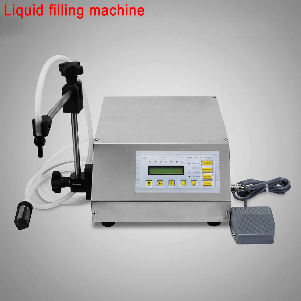 Small Digital Liquid Filling Machine 5ml-3500ml Automatic Fill Low-viscous Liquid Machinery for Food, Bervage, Oil, Cosmetics water valve for liquid filling machine spare part of pneumatic filler t part of food fill equipment filling nozzle device ss304