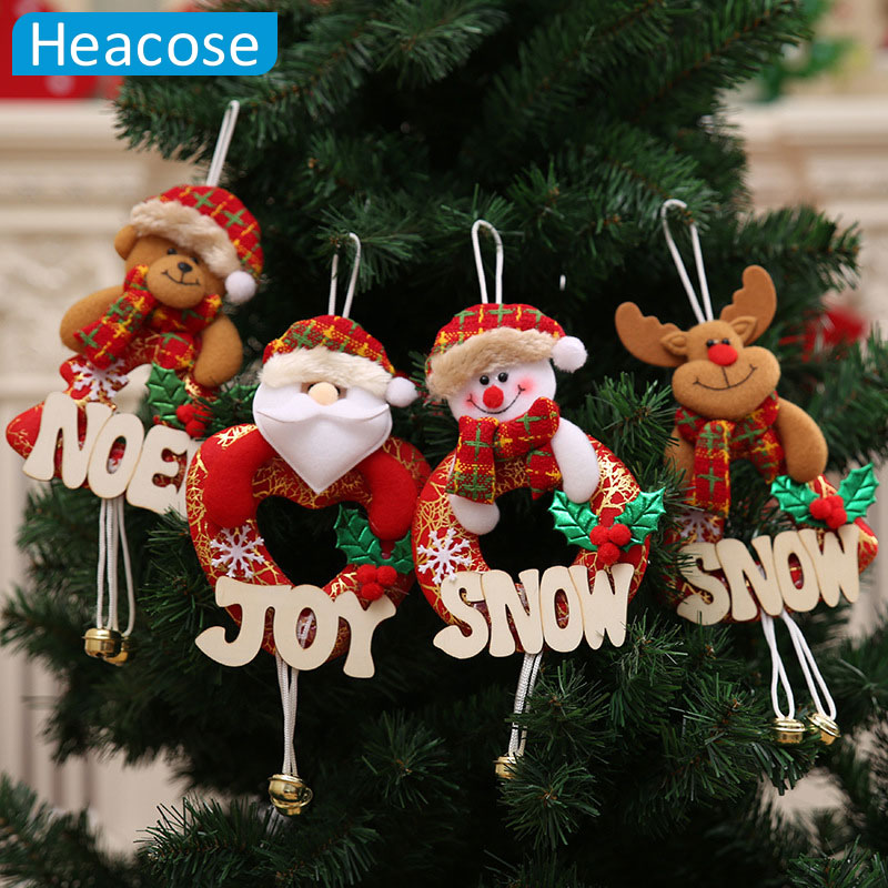 cute Santa Claus snowman deer ornaments Christmas Tree ...