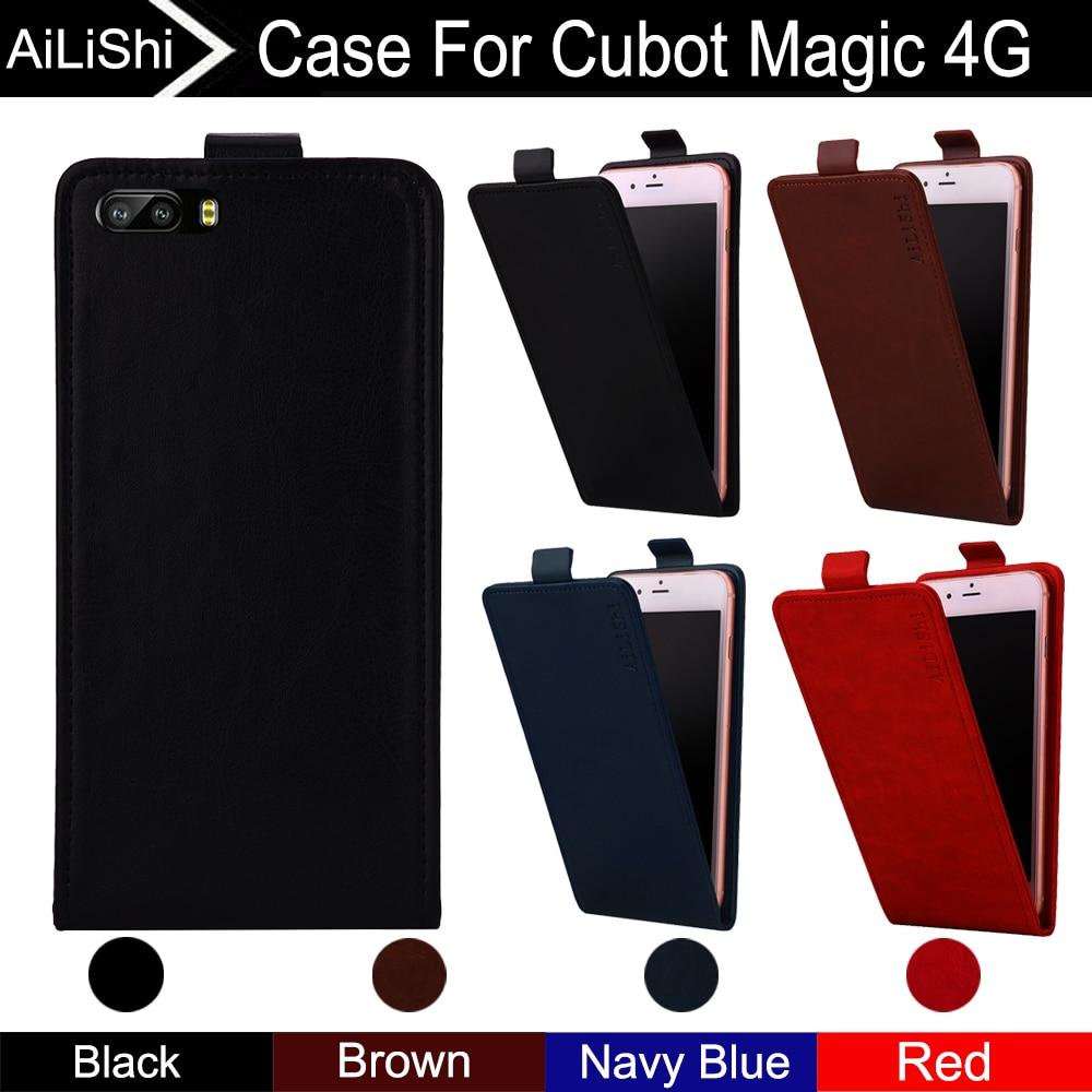 Generoso Ailishi Para Cubot Magic 4g Funda Para Teléfono Vertical Arriba Y Abajo Flip Funda De Cuero Magic Cubot Accesorios Para Teléfono 4 ¡colores De Seguimiento!