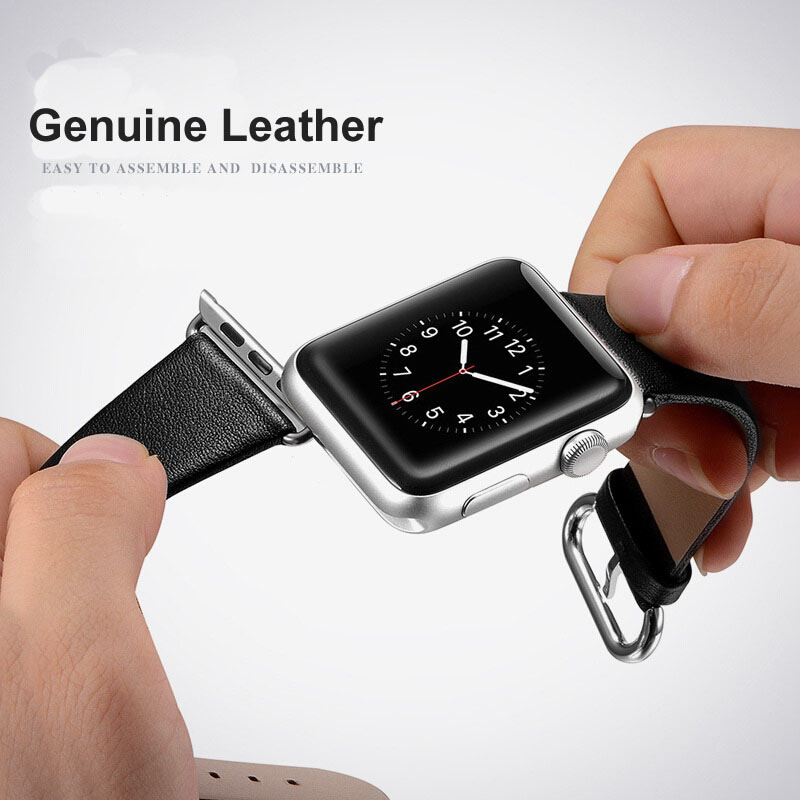 38-42mm Watch Strap For Apple Watch Series 1 2 3 Simple Genuine Leather Watch Band For Apple iWatch Wrist Bracelet Watchbands 38 42mm watch band for apple watch lovely wrist band real leather watch strap for apple series 1 2 3 iwatch watchbands bracelet